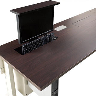 Flat Screen Garage and Smart Lift Powered Tables