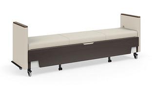 Hiatus Sleeper Bench   No Back, Both Arms