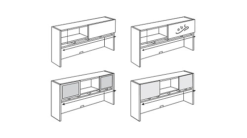 Surface-Mount Hutch with Sliding Door and Paper Sorter