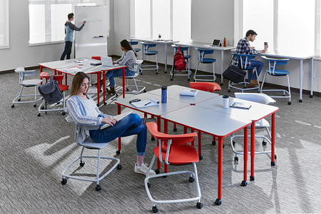 Ruckus class11d students PLdesks tables stackchairs stools