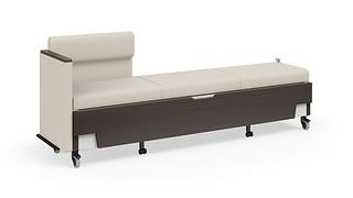 Hiatus Sleeper Bench   Left Chaise, One Arm