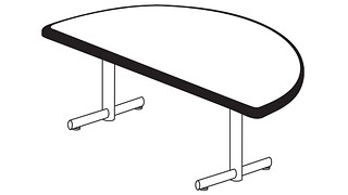 Portico Tables | Half Round Top (Fixed/Folding Leg)