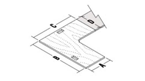Extended Corner Surface for Metal Frame