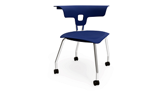 Ruckus Chair | 4-Leg Chair with Casters, Poly Seat