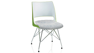 Doni Guest Chair   Wire Tower with 2-Tone Shell (Upholstered Seat)