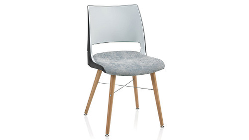 Tapered Wood Leg with 2-Tone Shell (Upholstered Seat)