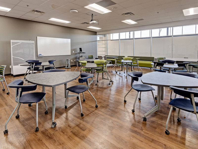 Featuring Ruckus Chairs, Pirouette Tables and Connection Zone Mobile Screens