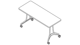 Enlite Tables | Rectangular Top (Fixed or Nesting)