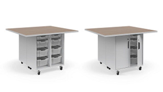 Ruckus Worktables | Double-Faced Combo Storage