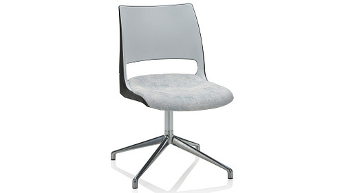 Fourstar Swivel with 2-Tone Shell (Upholstered Seat)