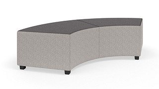 "MyPlace Lounge Furniture | 90° Inside Back Curve (Backless or 32"", 48"" or 60"" back heights)"