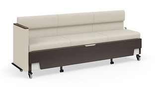 Hiatus Sleeper Bench | Full Back, Left Arm