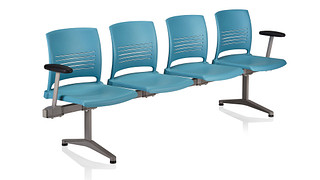 Strive Tandem Seating | 4 place unit - poly