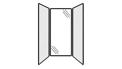 Steel Exterior Panels; Interior Panels: Left-Steel Rear-Glass Right-Steel