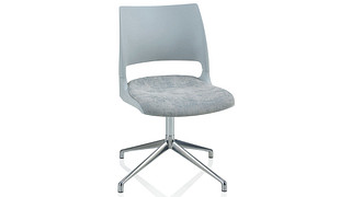 Doni Guest Chair | Fourstar Swivel with Solid Shell (Upholstered Seat)