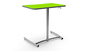 Ruckus Cantilever Desks | Fixed Height - Glide Base