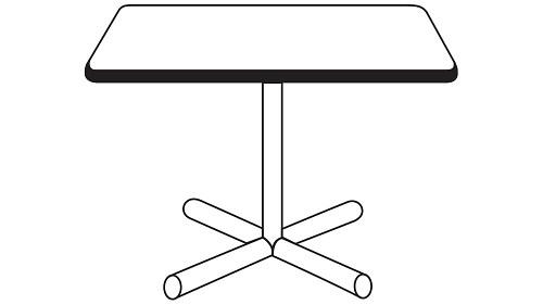 Square Top (Fixed/Folding Leg or Flip Top)