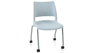 Doni Stack Chair | 4-Leg with Casters with Solid Shell (Poly)