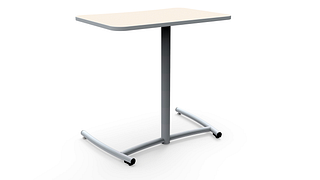 Ruckus Cantilever Desks | Fixed Height - Rolling Base