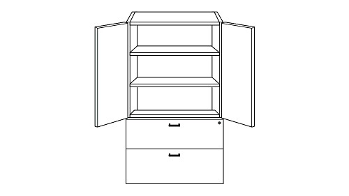 Cabinet with Lateral File