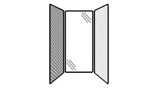 WiggleRoom | Steel Exterior Panels; Interior Panels: Left-Fabric Rear-Glass Right-Steel