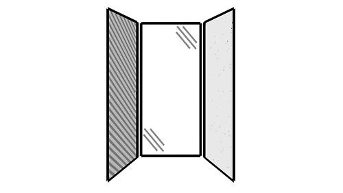 Steel Exterior Panels; Interior Panels: Left-Fabric Rear-Glass Right-Steel