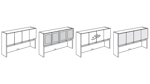 Tall Surface-Mount Overhead Hutch with Paper Sorter