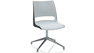 Doni Guest Chair | Fourstar Swivel with 2-Tone Shell (Poly)