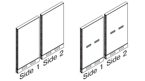 Monolithic Steel Panels - Standard Base (optional Beltway Power)