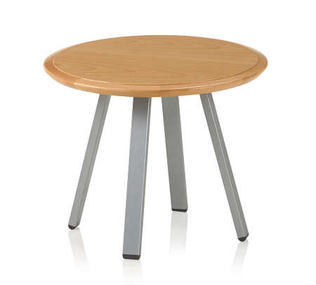 SolticeMetal RoundClubTable 16Tall20Wide Natural